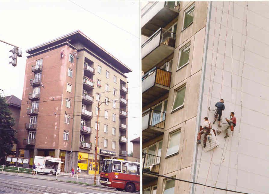 Opravy fasád bytových domů